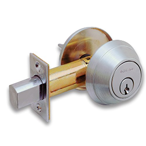 SCHLAGE B660P6 KD Standard C 6-Pin Cylinder Grade 1 Commercial Deadbolt Satin Chrome (Kd Locks Tools)