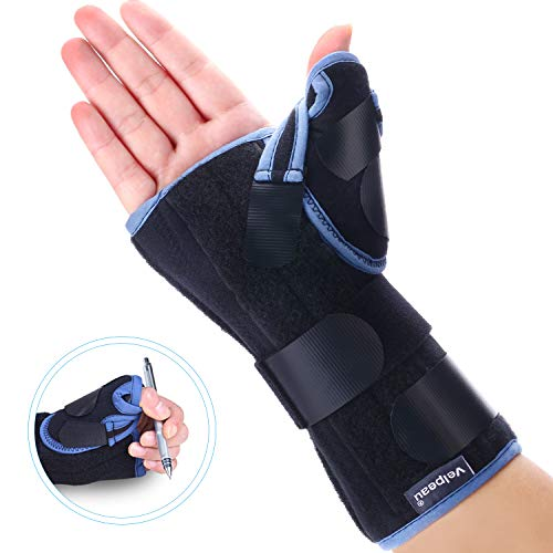 Velpeau Wrist Brace with Thumb Spica Splint for De Quervain's Tenosynovitis, Carpal Tunnel Pain, Stabilizer for Tendonitis, Arthritis, Sprains & Fracture Forearm Support Cast (Regula, Right Hand-L)