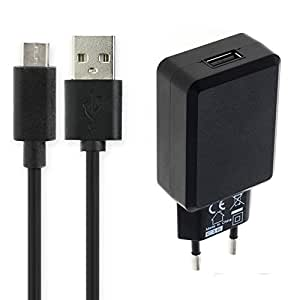 subtel® Cargador - 1m (3A) Compatible con Bang & Olufsen BeoPlay A1, A2 Active, P2, P6 / BeoLit 17 (5V / USB C (Type C)) Cable de Carga Negro