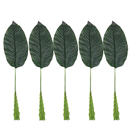 - Artificial Wall Plant - 5pcs 61cm Decorative Leaves Artificial Plants Simulation Leaf Tropical Palm Home Garden Photo Props - Bamboo Tabletop Marble Potted Elephant Topiary Decoration Boston
