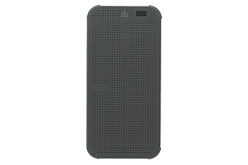 HTC Dot View Case for HTC One (M8) - Retail Packaging (D-Gray)