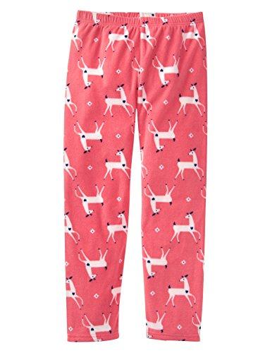 Crazy 8 Little Girls' Micro Fleece Pajama Pants, Pink Deer, XS