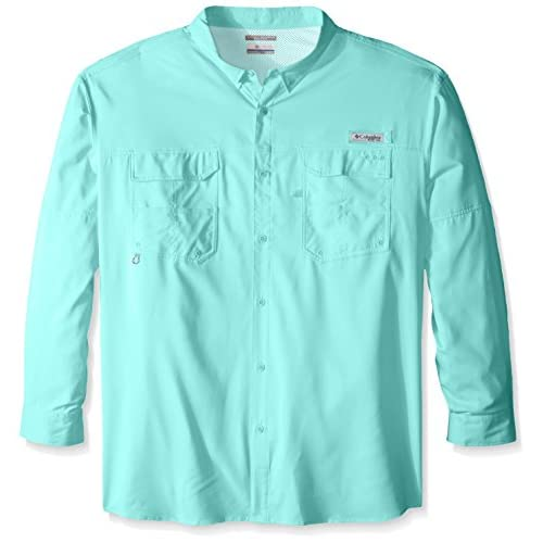 58959488801 Columbia Sportswear Men's Big Blood & Guts III Long Sleeve Woven Shirt chic
