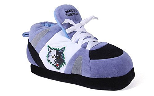 Timberwolves Slippers Minnesota - MTI01-3 - Minnesota Timberwolves - Large - Happy Feet Mens and Womens NBA Slippers