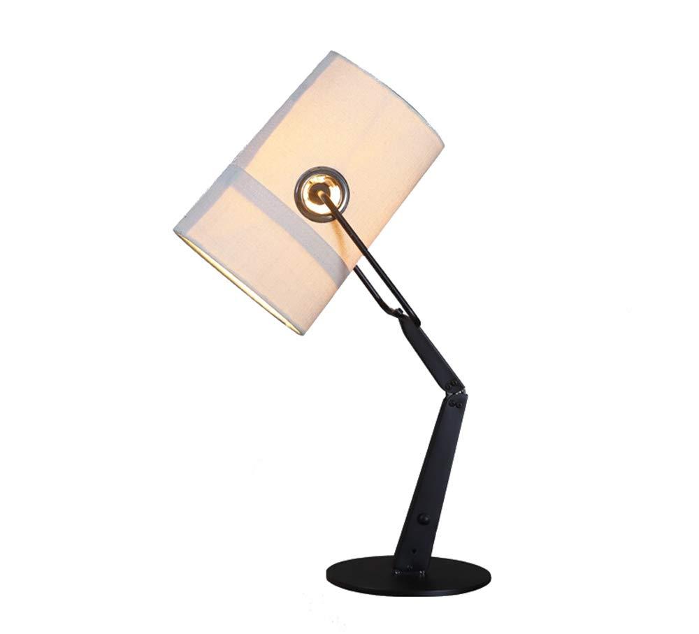 Metalltischlampe,Tischlampe,Metall Grau Braun,Lampenschirm Polyester Metallgewebe Robustes Gewebe Metall Nachttischlampe Druckschalter Durchmesser 18Cm (Senden Sie Eine Edison-Glühlampe),Weiß