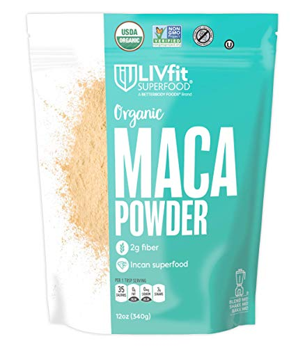 LIVfit Superfood Organic Maca, Non-GMO & Gluten-Free, 12 Ounce