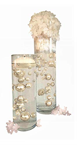 NO Hole Ivory Pearls - Jumbo/Assorted Sizes Vase Decorations - to Float The Pearls Order The Floating Packs from Options Below