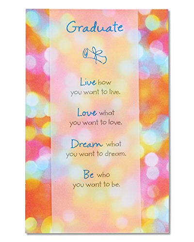 American Greetings Live Love Dream Be Graduation Greeting Card with Foil