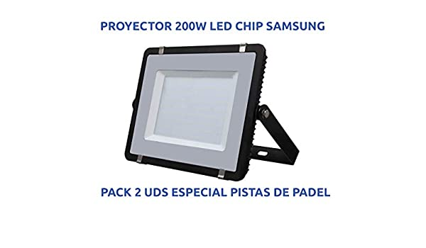 Proyector LED 200W IP65 [Especial Pistas de Pádel] [Pack 2 Unidades]: Amazon.es: Iluminación