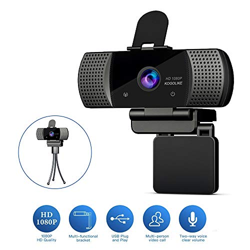 🥇 KOGOLIKE Webcam PC Full HD 1080P con Micrófono