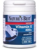 Vitamin E 400iu Capsules - Great Value For Natural Source And 100% UK-Made -100 Capsules