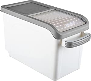 Pretty Styles Storage Box Food Container - 10kg Rice Storage Box Grain Cereal Dispenser Flip Lid Food Organizer Container Rice Container Portable Organizer Kitchen Tools (2)