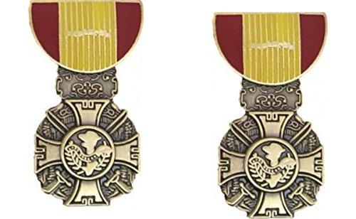 Military Vietnam Gallantry Cross Medal Hat Pin 2 Pack