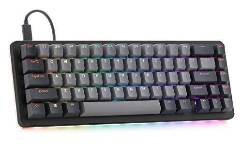 Drop ALT Mechanical Keyboard — 65% (67 Key) Gaming Keyboard, Hot-Swap Switches, Programmable Macros, RGB LED Backlighting, USB-C, Doubleshot PBT, Aluminum Frame (Cherry MX Brown, Black) (Renewed)