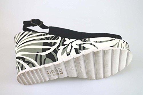 Apepazza Zapatos Mujer Sandalias Cuñas Negro Textil AK607 (36 EU)