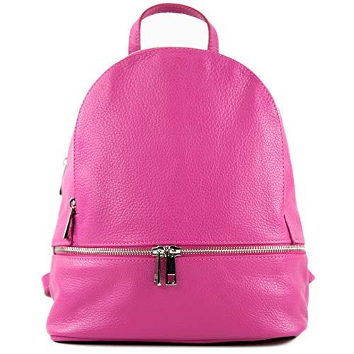 Ital Mochila De pink Para En saphirblau T137 Modamoda piel T137leder Piel Mujer Color t137leder 51awqWEB