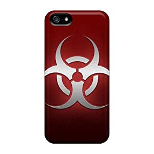 For Iphone 5/5s Protector Case Red Biohazard Phone Cover