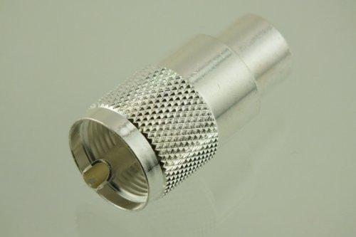 W5SWL ® Brand Premium Series Coax Connector Premium Silver Teflon UHF Male PL-259 PL259 RG-8 RG-213 9913 10-Pack - by W5SWL ® Brand