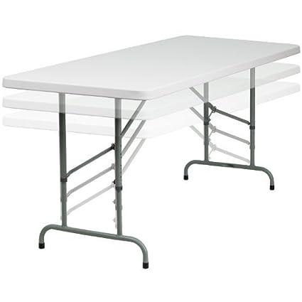 Amazon.com: Altura ajustable de plástico blanco Granito mesa ...