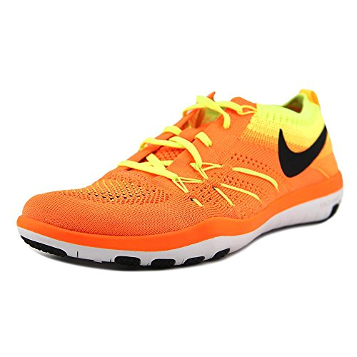 NIKE Womens Free Focus Flyknit Mesh Breathable Trainers Total Orange/Black-volt