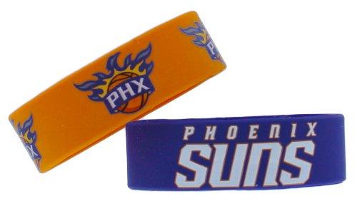 NBA Phoenix Suns Silicone Rubber Bracelet, 2-Pack
