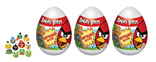 3 psc egg Angry Birds Toy + candy