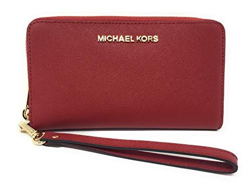Michael Kors Women's Jet Set Travel Large Smartphone Wristlet (Scarlet) (Michael Kors Fashion Store)