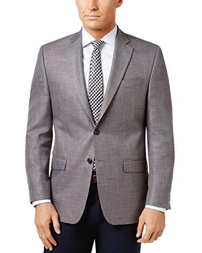 Ralph Lauren Men's Classic-Fit Neat UltraFlex Sport Coat 40R Grey Jacket Blazer -