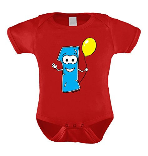 First Birthday Yellow Balloon Bodysuit