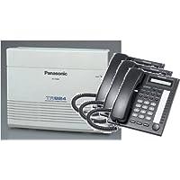 Panasonic KX-TA824-T7730PK3 (KX-TA824, 3 KX-T7730) Packages Black