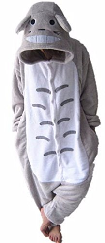 Cute Totoro Costumes (WOWcucos Unisex Adult Totoro Onesies Animal Cosplay Costume Halloween Xmas Pajamas---M)