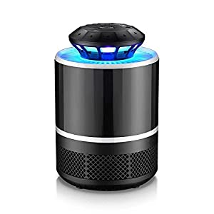 Electronic Mosquito Killer Bug Zapper - USB Powered 4th Gen IdentikitGift New Design Non-toxic LED Mosquito Trap lamp, Bug Zapper With Eco-friendly for Indoor Outdoor Use (Black)