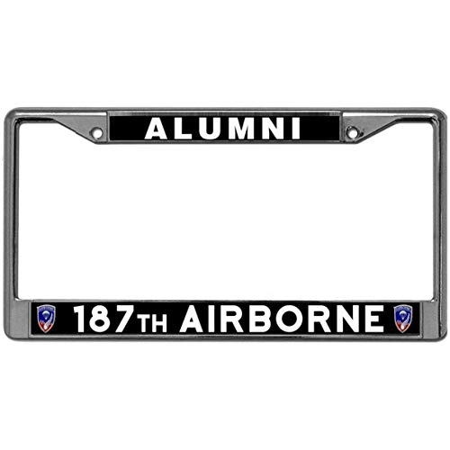 GND US Military Licence Plate Frame Covers,187TH Airborne Alumni Car Licence Plate Frame Covers US Military Car Licenses Plate Covers Holders for US Vehicles