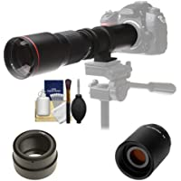 Vivitar 500mm f/8.0 Telephoto Lens with 2x Teleconverter (=1000mm) + Kit for Sony Alpha A3000, A5000, A5100, A6000, A7, A7R, A7S E-Mount Camera