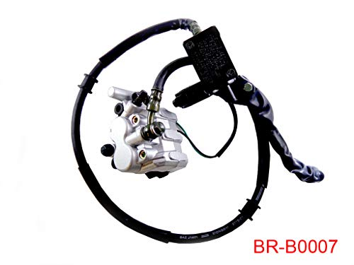 Front Hand Hydraulic Disc Brake Master Cylinder Caliper Assembly with New Brake Pads for 50cc 110cc 150cc 250cc GY6 Scooter Moped
