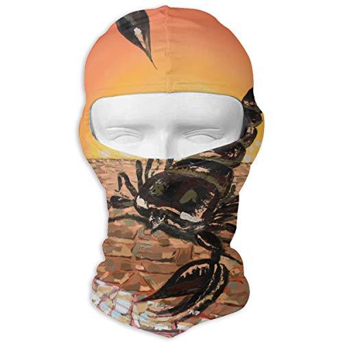 - Rainbow Magnet Scorpion Animal Balaclava - Windproof Ski Mask - Motorcycle Full Face UV Protection Mask