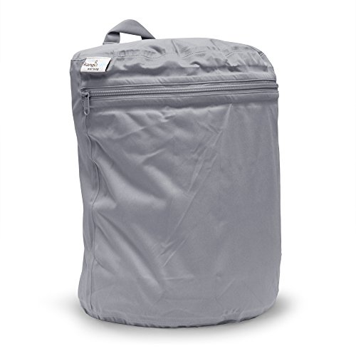 Kanga Care Wet Bag, Platinum Front Zipper Gusset Pocket