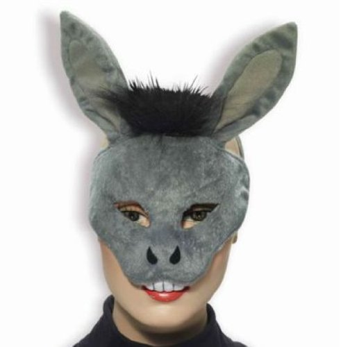 Plush Donkey Kids Costumes - Forum Novelties Deluxe Plush Gray Donkey Animal Half Mask