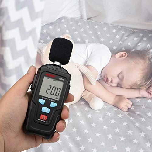 Decibel Meter Digital Sound Level Meter MESTKE 30 – 130 dB Noise Volume Measuring Instrument Reader Self-Calibrated Max Min Data Hold Fast/Slow Mode LCD Backlight Display/Flashlight by MESTEK (Image #4)