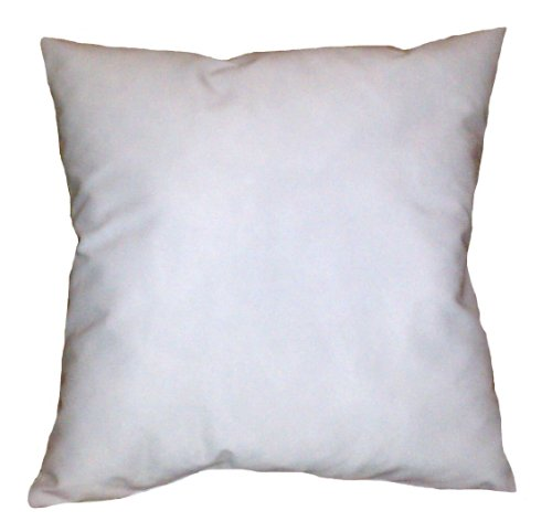35x35 Inch White Cotton-Blend Zippered Square Throw Pillow C
