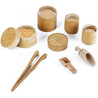 LUEUR Sensory Bin Toys Montessori Toy for Toddlers Wooden Toys Scoops and Tongs for Transfer Work and Fine Motor Learning Kitchen Pretend Play Set