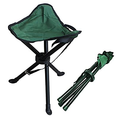 Alex Carseon Folding stool by, small, lightweight, portable seat. Foldable tripod camp chair for camping, fishing, travel, parks, photography, outdoor concerts, soccer games, sports events, gardening