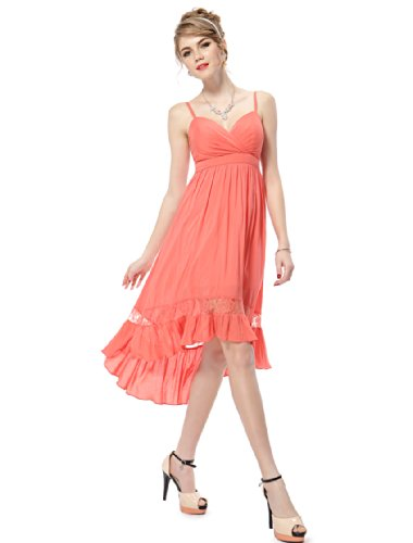 HE05011CO10, Coral, 8US, Ever Pretty Cocktail Dresses For Women 05011