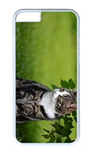 MOKSHOP Adorable cat outdoor Hard Case Protective Shell Cell Phone Cover For Apple Iphone 6 Plus (5.5 Inch) - PC White