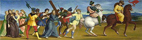 'Raphael The Procession To Calvary ' Oil Painting, 10 X 35 Inch / 25 X 90 Cm ,printed On Polyster Canvas ,this Replica Art DecorativePrints On Canvas Is Perfectly Suitalbe (Cinema Costume Ban)