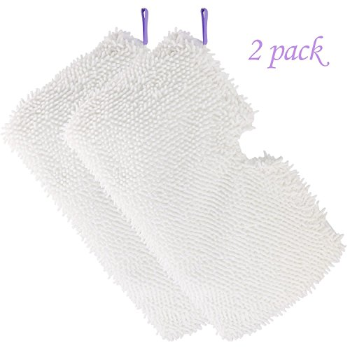- Tidy Monster Big Sale 2 Pack Washable Microfiber Mop Pads Cleaning Pads Replacement Shark Steam Pocket Mops S3500 Series S3501 S3601 S3550 S3901 S3801 SE450 S3801CO S3601D-White-2 Pack