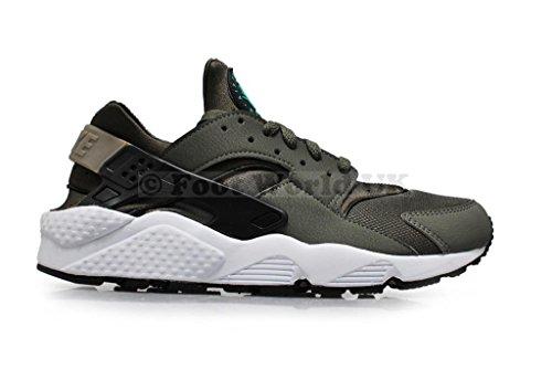 Nike Men Air Huarache Sneakers, Green, 7.5 Green Aceituna