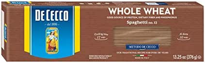 Pasta: De Cecco Whole Wheat