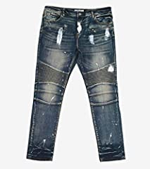 Product Details: Embellish men's lifestyle denim jeans Traditional pocket layout and zip/button-up closure Additional pockets with zip closure featured on the front Paint splatter featured throughout Cotton fabric for comfortable and soft w...