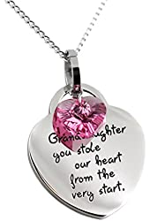 Granddaughter Heart Shaped Pendant - Granddaughter You Stole Our Heart From the Very Start Necklace